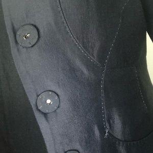 Dark blue silk blazer from Max Studio